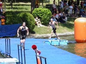 Transición natación a bici Casa de Campo Madrid